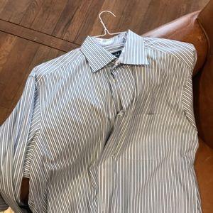 """Ike Behar 16"""" neck, 36/37"""" sleeve dress shirt"""